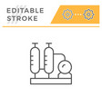 refinery plant line icon vector image
