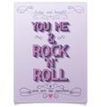 Rock love poster design vector image