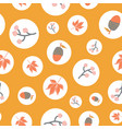 scattered autumn elements in polka dots seamless vector image vector image