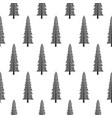 seamless pattern with various type of the trees vector image