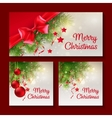 Set of Christmas templates for print or web design vector image vector image