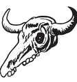 simple black and white cow skull vector image