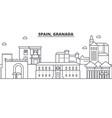 spain granada architecture line skyline vector image vector image