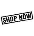 square grunge black shop now stamp vector image vector image