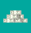 stack of dollar banknotes vector image vector image