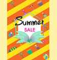summer sale banner temp vector image vector image