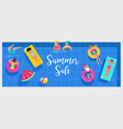 summer water activities scene vector image