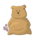 Teddy bear with a holiday flowers vector image