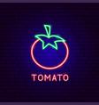tomato neon label vector image