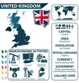 United Kingdom map with statistical data vector image vector image