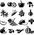 VegetablesFruits vector image vector image