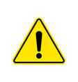 warning sign attention caution exclamation sign vector image vector image