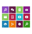 Web icons on color background vector image vector image