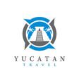 yucatan temple logo vector image vector image