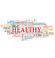 Health and care tags cloud vector image