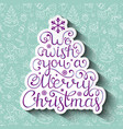 christmas card with christmas wishes vector image