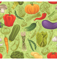 Vegetable seamless pattern vector image