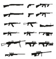 weapon and gun set collection icons 02 vector image