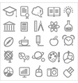 25 school and college icons vector image vector image