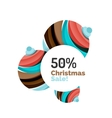 Abstract geometric Christmas banner vector image vector image