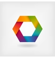 abstract rainbow hexagon vector image vector image