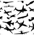 Aircraft airplane plane flying seamless travel vector image vector image