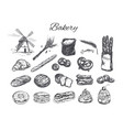 bakery shop set vector image vector image