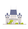 beautiful medieval castle fortress citadel or vector image vector image