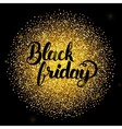 Black Friday Lettering over Gold vector image vector image
