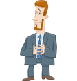 boss character cartoon vector image vector image