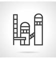 Brickworks plant line icon vector image