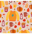 bright big autumn pattern light background vector image vector image