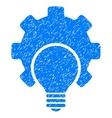 Bulb Configuration Gear Grainy Texture Icon vector image