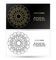 business card with pattern abstract vector image vector image