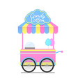 candy cotton wagon colorful vector image vector image