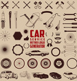 car service logo generator vector image vector image