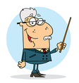 Caucasian Professor Man Holding A Pointer vector image vector image