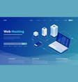 concept server hosting big data flow processing vector image vector image
