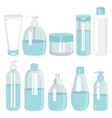 Cosmetics bottle products set vector image vector image
