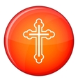 Crucifix icon flat style vector image vector image