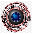 cyber digital power icon vector image vector image