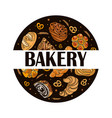 decor for a shop or cafe with pastries bread vector image vector image