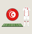 football tunisia sport wear vector image vector image