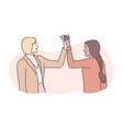 friendship success business congratulation vector image