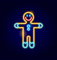 gingerbread man neon sign vector image