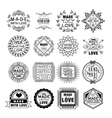 Handmade Emblems in Linear Style vector image vector image