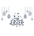 happy easter eggs festival card design background vector image vector image