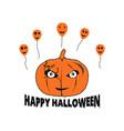 happy halloween pumpkin balloons vector image vector image