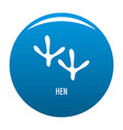 hen step icon blue vector image