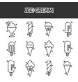 ice-cream flat icons set vector image vector image